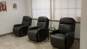 Chairs in IV Room at California Naturopathic Clinic